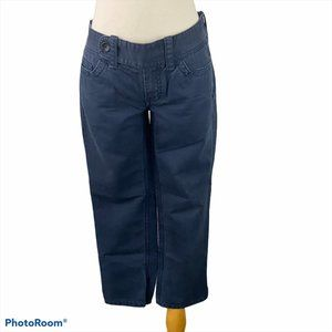 TOMMY HILFIGER X-tra Low Rise Blue Cropped Pants